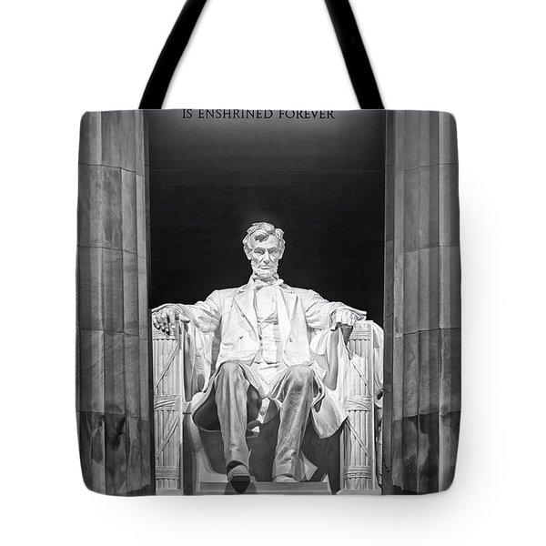 Abraham Lincoln Memorial Tote Bag by Susan Candelario
