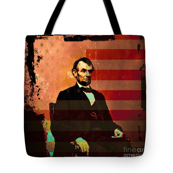 Abraham Lincoln Tote Bag by Wingsdomain Art and Photography