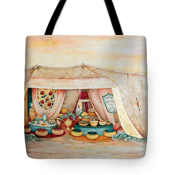 Abraham's Tent Tote Bag by Michoel Muchnik