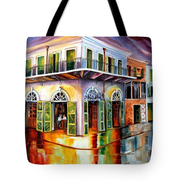 Absinthe House New Orleans Tote Bag by Diane Millsap