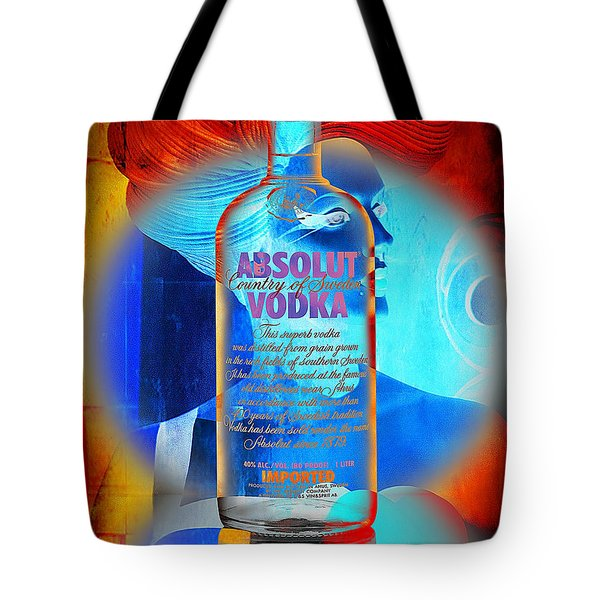 Absolut Psychedelic Tote Bag by Chuck Staley