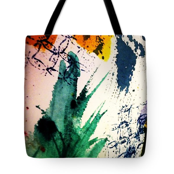 Abstract - Splashes Of Color Tote Bag by Ellen Levinson
