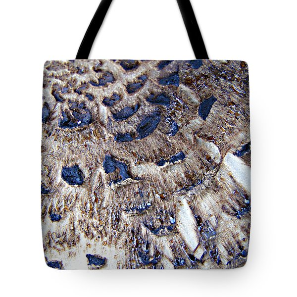 Abstract Accidental Sapphires Tote Bag by Linsey Williams