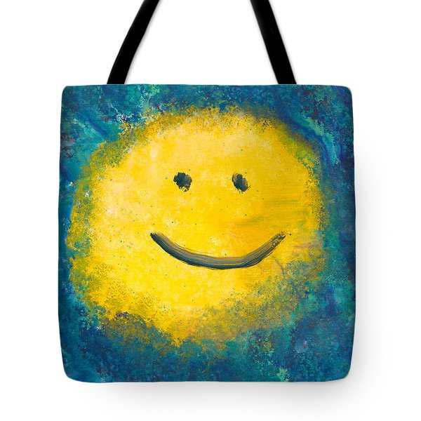 Abstract - Acrylic - Happy Abstraction Tote Bag by Mike Savad