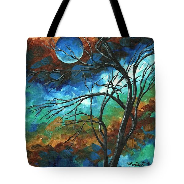 Abstract Art Original Colorful Painting Mystery Of The Moon By Madart Tote Bag by Megan Duncanson