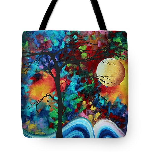 Abstract Art Original Enormous Bold Painting Essence Of The Earth I By Madart Tote Bag by Megan Duncanson