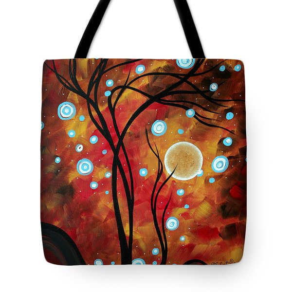 Abstract Art Original Landscape Circle Painting Fairy Dust By Madart Tote Bag by Megan Duncanson