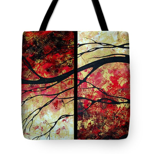 Abstract Art Original Landscape Painting Bring Me Home By Madart Tote Bag by Megan Duncanson