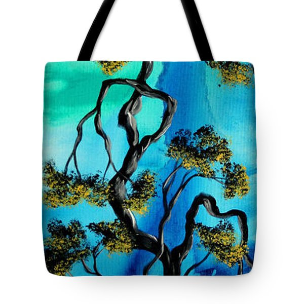 Abstract Art Original Landscape Painting Life Is A Maze By Madart Tote Bag by Megan Duncanson