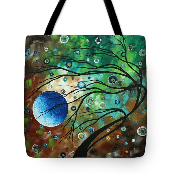 Abstract Art Original Landscape Painting Mint Julep By Madart Tote Bag by Megan Duncanson