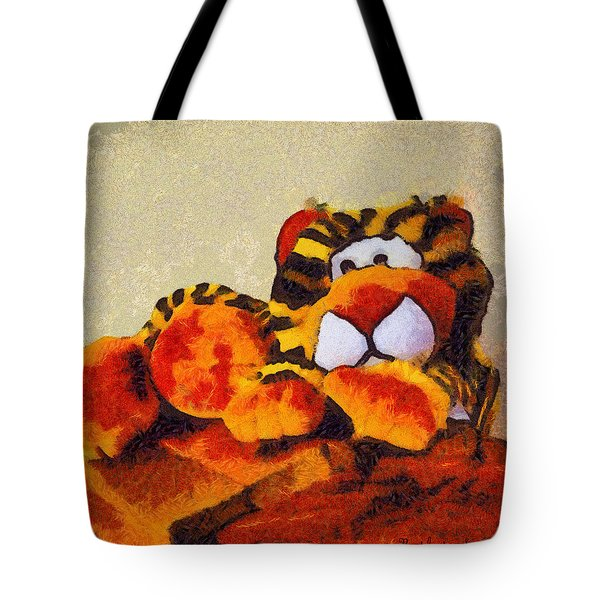 Abstract Bengal Tiger Tote Bag by Barbara Snyder