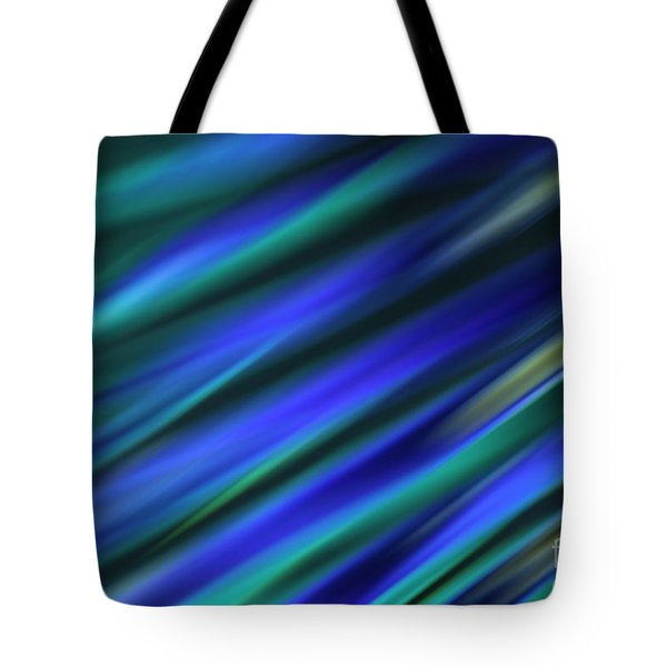 Abstract Blue Green Diagonal Blur Tote Bag by Marvin Spates