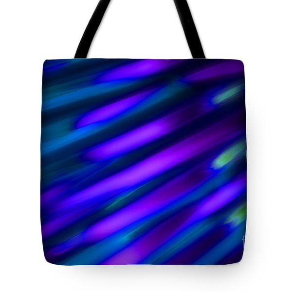 Abstract Blue Green Pink Diagonal Tote Bag by Marvin Spates