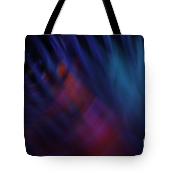 Abstract Blue Pink Green Blur Tote Bag by Marvin Spates