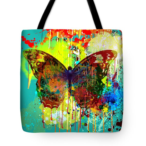 Abstract Butterfly Tote Bag by Gary Grayson