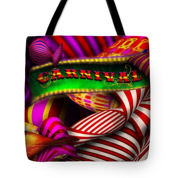 Abstract - Carnival Tote Bag by Mike Savad
