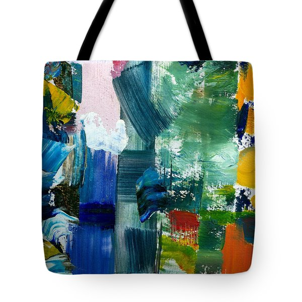 Abstract Color Relationships Lll Tote Bag by Michelle Calkins