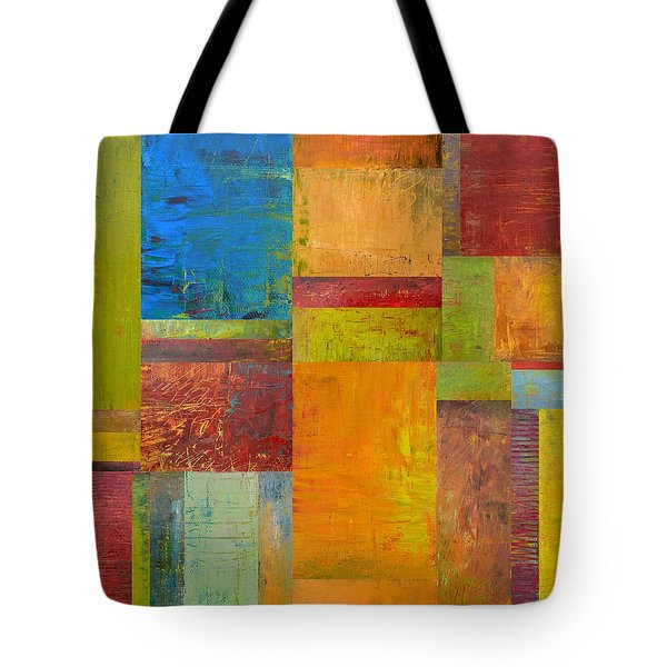 Abstract Color Study Collage ll Tote Bag by Michelle Calkins