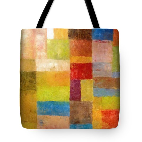 Abstract Color Study Vii Tote Bag by Michelle Calkins