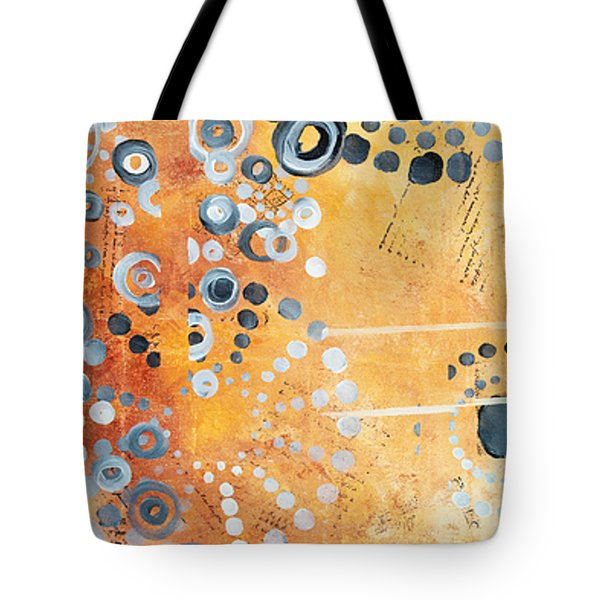 Abstract Decorative Art Original Circles Trendy Painting by MADART Studios Tote Bag by Megan Duncanson