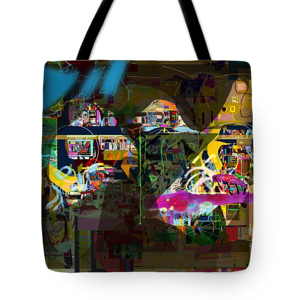 abstract drawings 7b tefilla without cavona h Tote Bag by David Baruch Wolk