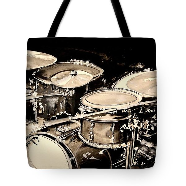 Abstract Drum Set Tote Bag by J Vincent Scarpace