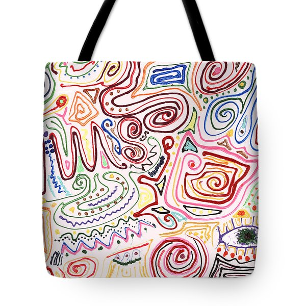 Abstract - Fabric Paint - Urban Society Tote Bag by Mike Savad