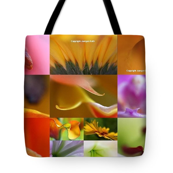 Abstract Fine Art Flower Photography Tote Bag by Juergen Roth