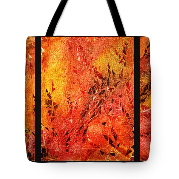 Abstract Fireplace Tote Bag by Irina Sztukowski