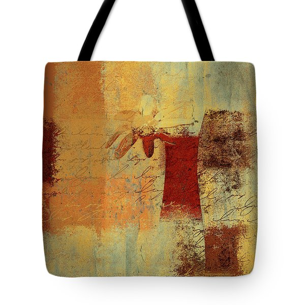 Abstract Floral - 14v4i-t2b2 Tote Bag by Variance Collections