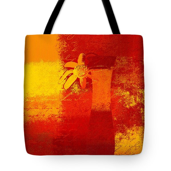 Abstract Floral - 6at01a Tote Bag by Variance Collections