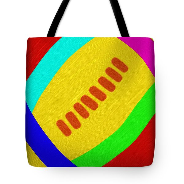 Abstract Football Tote Bag by Andee Design