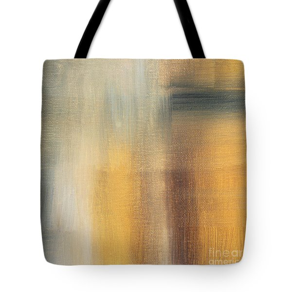 Abstract Golden Yellow Gray Contemporary Trendy Painting Fluid Gold Abstract II By Madart Studios Tote Bag by Megan Duncanson