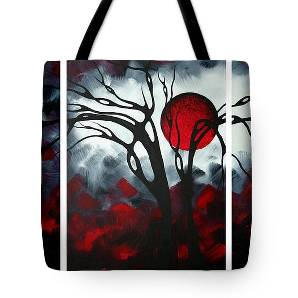 Abstract Gothic Art Original Landscape Painting Imagine By Madart Tote Bag by Megan Duncanson