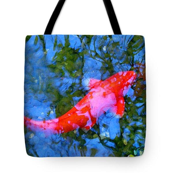 Abstract Koi 4 Tote Bag by Amy Vangsgard