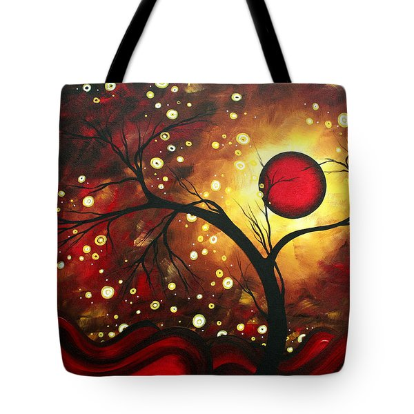 Abstract Landscape Glowing Orb by MADART Tote Bag by Megan Duncanson