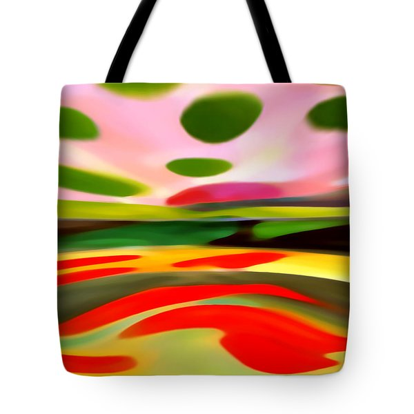 Abstract Landscape of Happiness Tote Bag by Amy Vangsgard