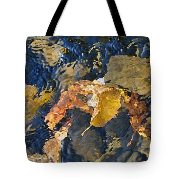 Abstract Leaves In Water Tote Bag by Dan Friend