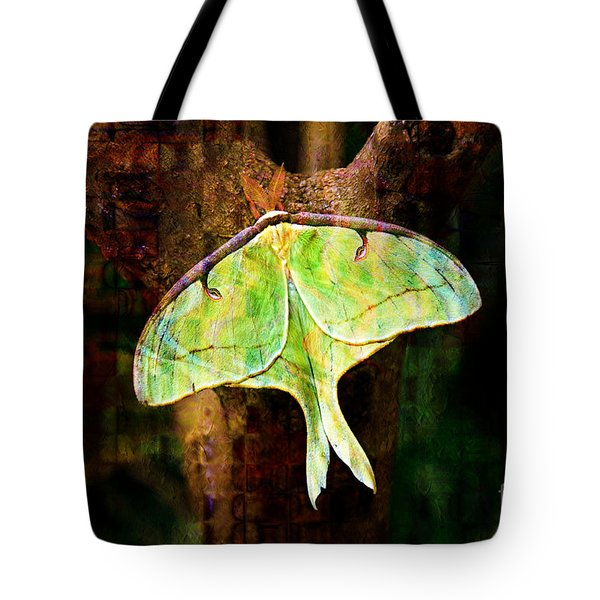 Abstract Luna Moth Painterly Tote Bag by Andee Design