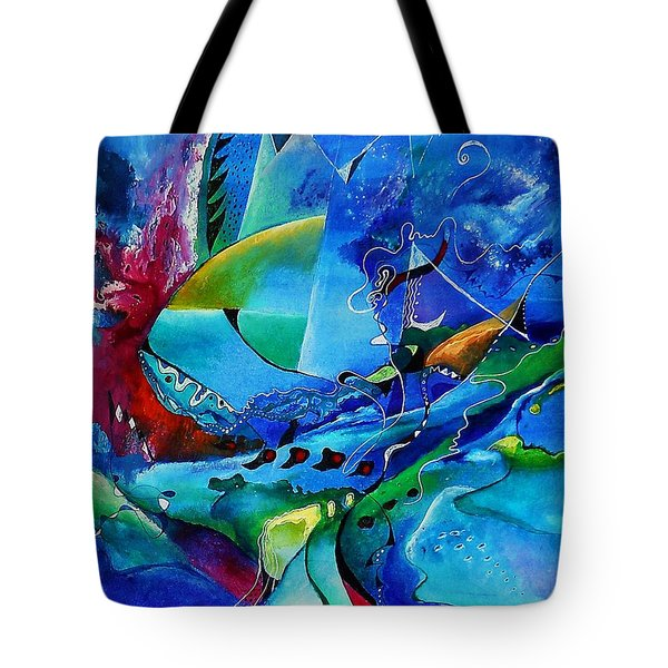 Abstract Mindscape No.5-improvisation Piano And Trumpet Tote Bag by Wolfgang Schweizer