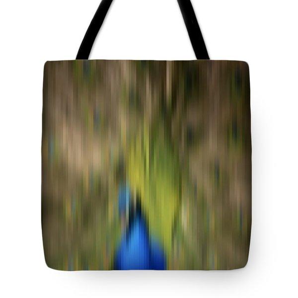 Abstract Moving Peacock  Tote Bag by Georgeta Blanaru