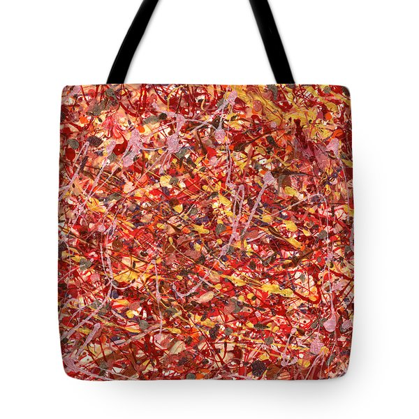 Abstract - Nail Polish - Cosmetically speaking Tote Bag by Mike Savad