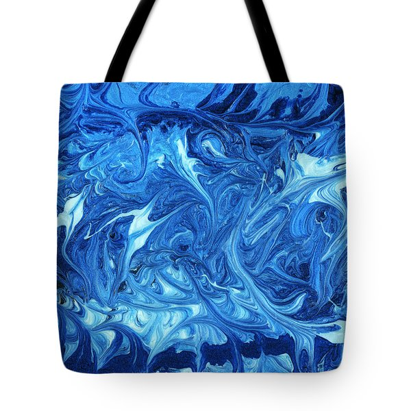 Abstract - Nail Polish - Ocean Deep Tote Bag by Mike Savad