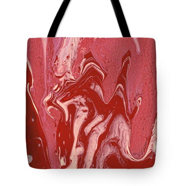 Abstract - Nail Polish - Tongue Tote Bag by Mike Savad