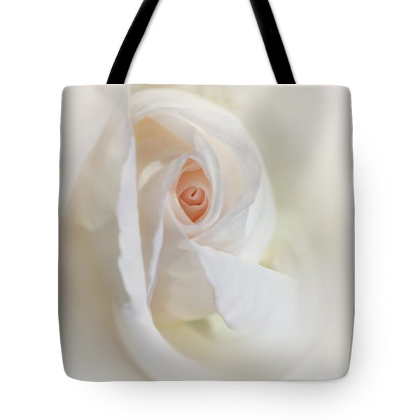 Abstract Pastel Rose Flower Tote Bag by Jennie Marie Schell