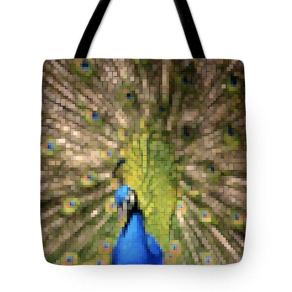 Abstract Peacock digital artwork Tote Bag by Georgeta Blanaru