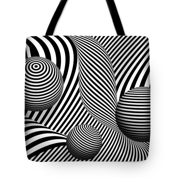 Abstract - Poke out my eyes Tote Bag by Mike Savad