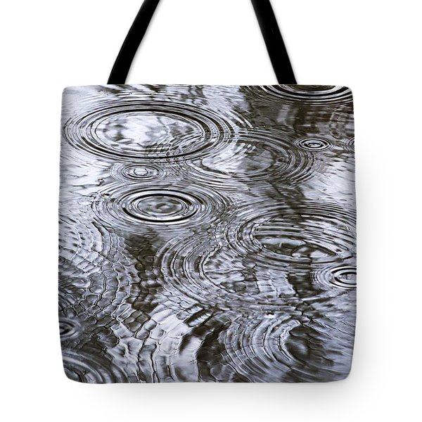 Abstract Raindrops Tote Bag by Christina Rollo