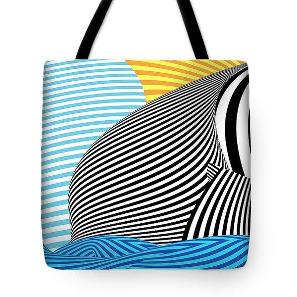 Abstract - Sailing Tote Bag by Mike Savad