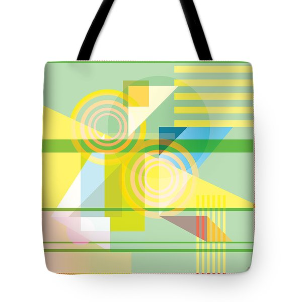Abstract Shapes #5 Tote Bag by Gary Grayson